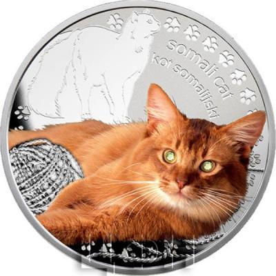 Ниуэ 1 доллар 2015 год «Сомалийская кошка» (реверс).jpg