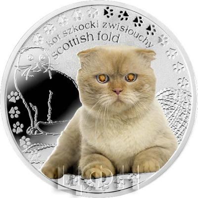Ниуэ 1 доллар 2015 год «Шотландская вислоухая кошка» (реверс).jpg