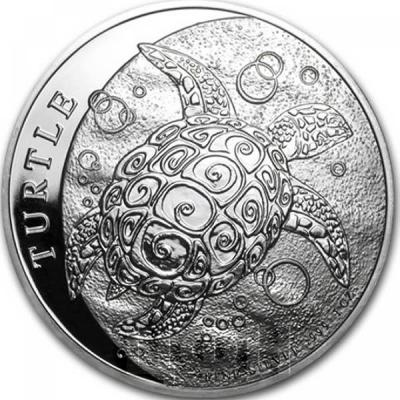 Ниуэ 2 доллара 2015 год «Черепаха» (реверс).jpg