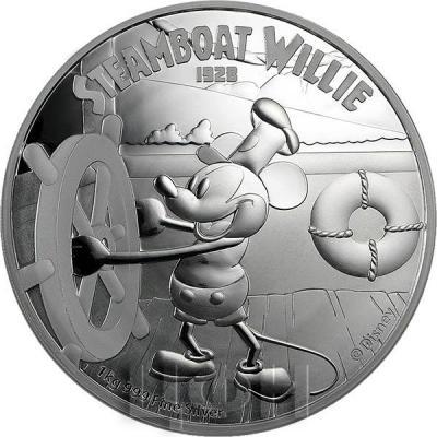 Ниуэ 100 долларов 2015 год «Пароход Вилли» (реверс).jpg
