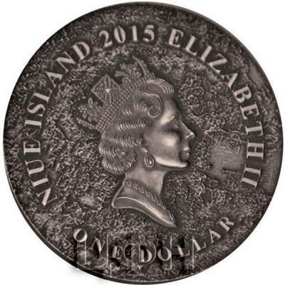 Ниуэ 1 доллар 2015 год «МЕТЕОРИТ КАМПО-ДЕЛЬ-СЬЕЛО» (аверс).jpg