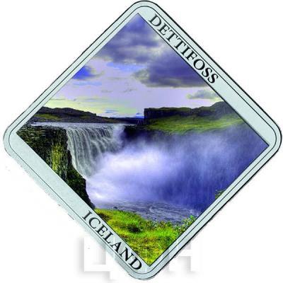 Ниуэ 1 доллар 2015 год «Водопады. Деттифосс» (реверс).jpg