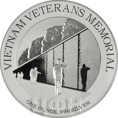 Ниуэ 2 доллара 2015 год «Мемориал ветеранов войны во Вьетнаме» (реверс).jpg