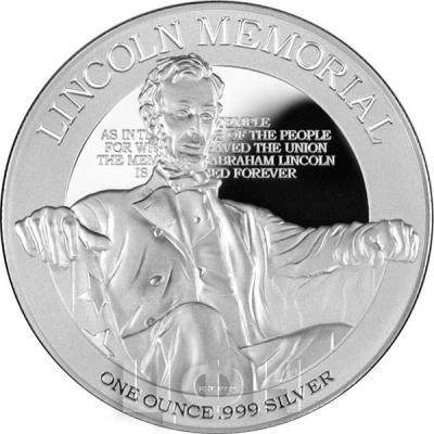 Ниуэ 2 доллара  2015 год. «Мемориал Линкольна» (реверс).jpg