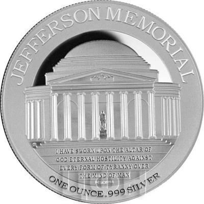 Ниуэ 2 доллара 2015 год «Мемориал Джефферсона» (реверс).jpg