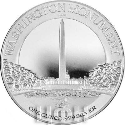 Ниуэ 2 доллара 2015 год «Монумент Вашингтона» (реверс).jpg