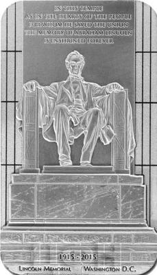 Ниуэ 2015 $5 Мемориал Линкольна (реверс).jpg
