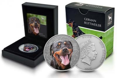 Ниуэ 1 доллар 2015 год «German Rottweiler» (реверс).jpg