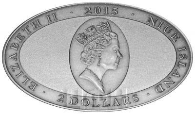 Ниуэ 2 доллара 2015 год «Святой Джордж» (аверс).jpg