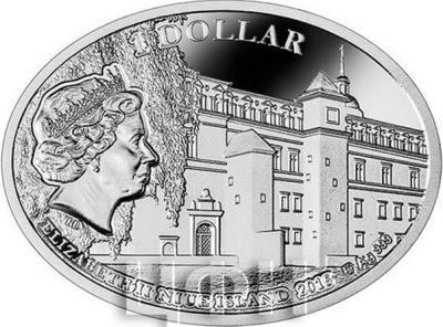 Ниуэ 1 доллар 2015 год «Сигизмунд II Август и Барбара Радзивилл» (аверс).jpg