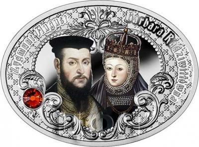 Ниуэ 1 доллар 2015 год «Сигизмунд II Август и Барбара Радзивилл» (реверс).jpg