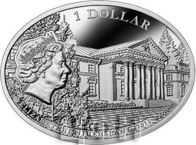 Ниуэ 1 доллар 2015 год «Оноре де Бальзак и Эвелина Ганская» (аверс).jpg