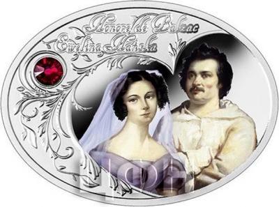 Ниуэ 1 доллар 2015 год «Оноре де Бальзак и Эвелина Ганская» (реверс).jpg