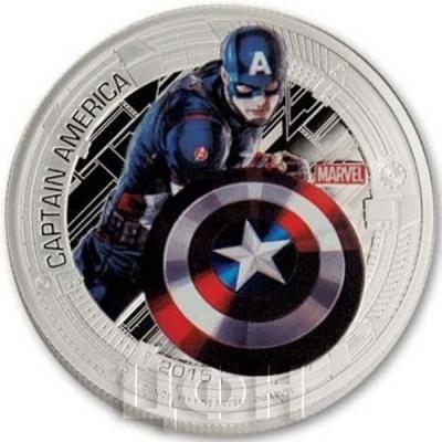 Ниуэ 2 доллара 2015 год «Капитан Америка» (реверс).jpg