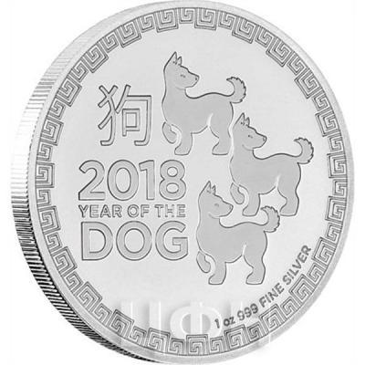 Ниуэ 2 доллара 2018 год «Год собаки» (реверс).jpg