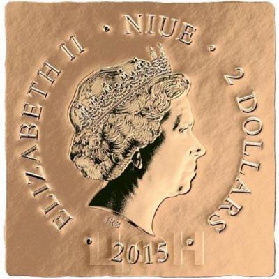 Ниуэ 2 доллара 2015 год «Архангел Михаил» (аверс).jpg