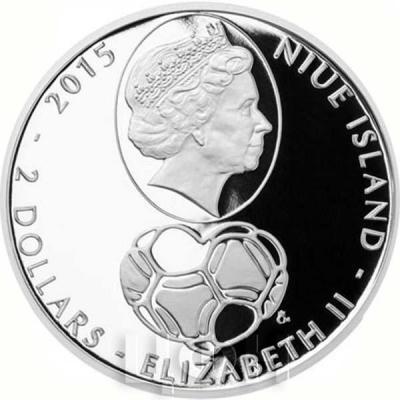 Ниуэ 2 доллара 2015 год «Футбол» (аверс).jpg