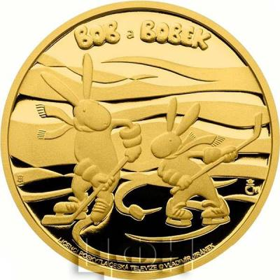 Ниуэ 2015 год золотая монета «Боб и Бобек» (реверс).jpg