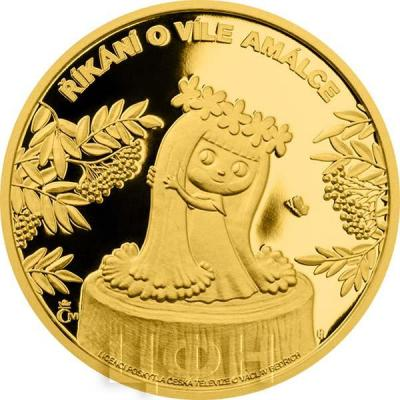 Ниуэ 2015 год золотая монета «Фея Амалька» (реверс).jpg