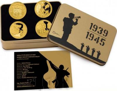 Ниуэ 2015 год золотая монета «70-летие окончания Второй мировой войны» (набор).jpg