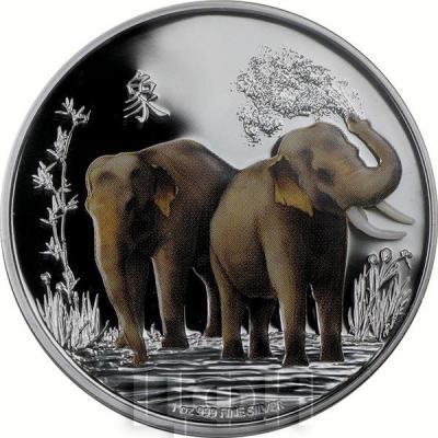 Ниуэ 2 доллара 2015 год « слоны фэн-Шуй» (реверс).jpg