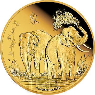 Ниуэ 25 долларов 2015 год «слоны фэн-Шуй» (реверс).jpg