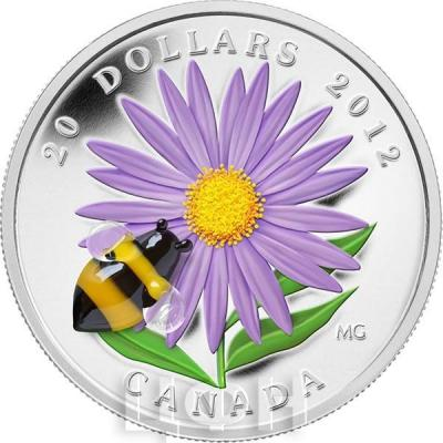 Канада 20 долларов 2012 года «Астра и пчела».jpg