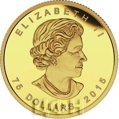 Канада 75 долларов 2015 год «ELIZABETH II», «D • G • REGINA» золото (аверс).jpg
