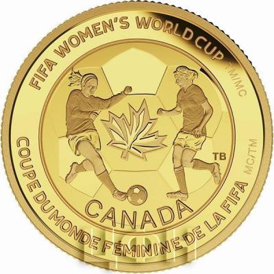 Канада 75 долларов 2015 год «Футбольный мяч» золото (реверс).jpg