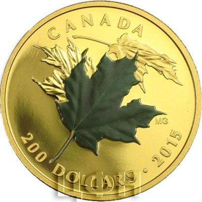 Канада 200 долларов 2015 года «Листья Клёна».jpg
