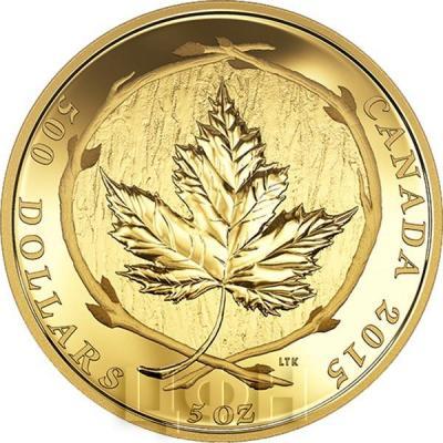 Канада 500 долларов 2015 года «Кленовый лист».jpg