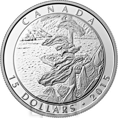Канада 3 монеты по 15 долларов 2015 года «Франклин Кармайкл» реверс.jpg
