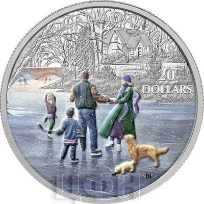 Канада 20 долларов 2015 года «Юная фигуристка» реверс.jpg