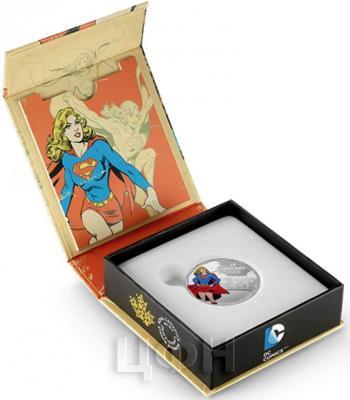 Канада 10 долларов 2015 года «Супергёрл» коробка.jpg