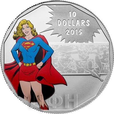 Канада 10 долларов 2015 года «Супергёрл» реверс.jpg