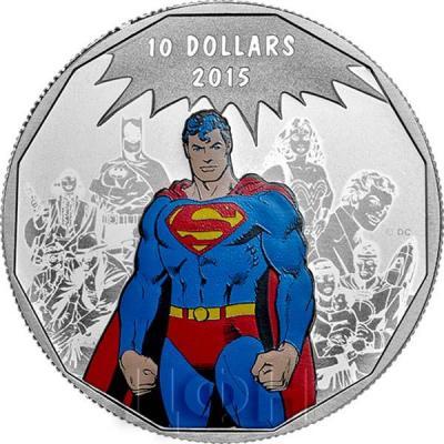 Канада 10 долларов 2015 года «Супергерой» реверс.jpg