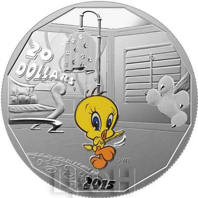 Канада 20 долларов 2015 года «Кенор Твити» реверс.jpg