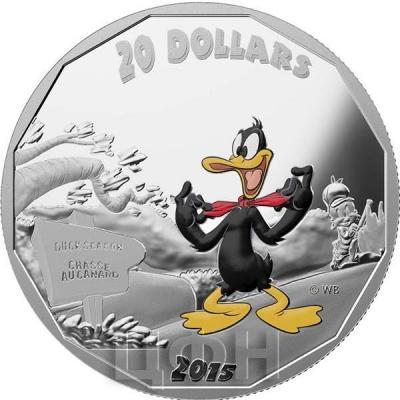 Канада 20 долларов 2015 года «Даффи-Дак» реверс.jpg