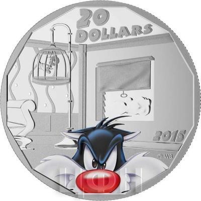 Канада 20 долларов 2015 года «Сильвестр» реверс.jpg