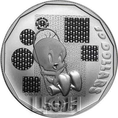 Канада 10 долларов 2015 года «Твити» реверс.jpg