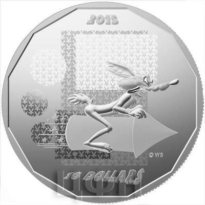 Канада 10 долларов 2015 года «Хитрый койот» реверс.jpg