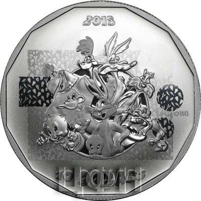 Канада 10 долларов 2015 года «вымышленные персонажи анимационного сериала Warner Bros» реверс.jpg