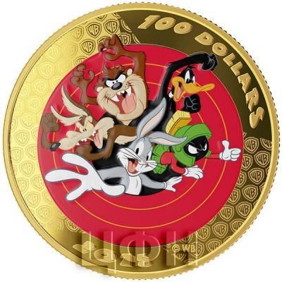 Канада 100 долларов 2015 года «Багз Банни и его друзья» реверс.jpg
