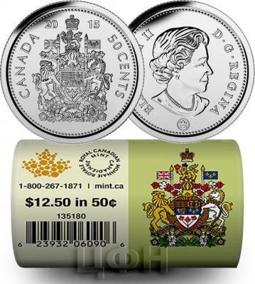 Канада 50 центов 2015 года «Даффи-Дак» реверс.jpg