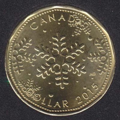 Канада 1 доллар 2015 года «Рождество» реверс.jpg