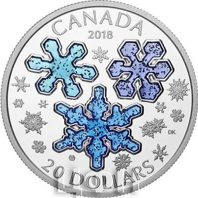 Канада 20 долларов «Снежинки» (реверс).jpg