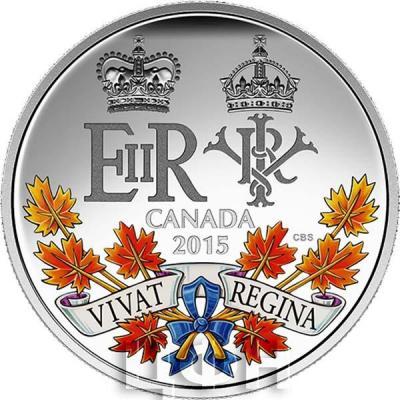 Канада 20 долларов 2015 года «Две королевы» аверс.jpg