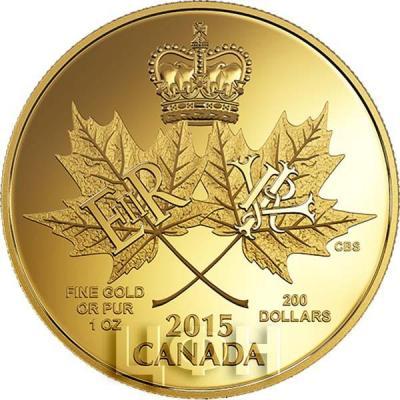 Канада 200 долларов 2015 года «Две королевы» аверс.jpg