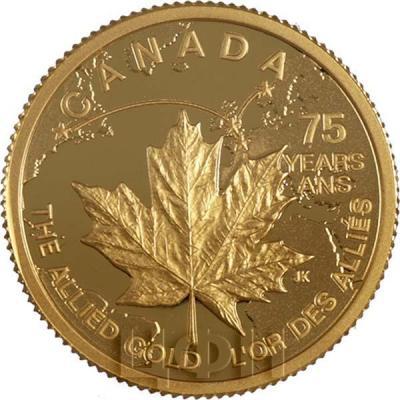 Канада 75 долларов 2015 года «спасение в 1940 году национальной казны Норвегии» аверс.jpg