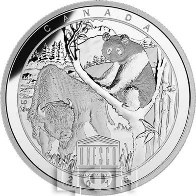 Канада 20 долларов 2015 года «Юнеско» реверс.jpg